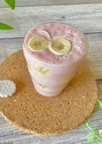 糀甘酒入りいちごとバナナのスムージー