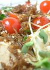豆腐のジャコソースサラダ