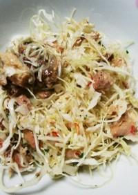 簡単!イワシ缶のペペロンチーノ風味サラダ
