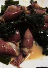 ホタルイカとワカメの辛子酢味噌和え