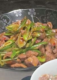 激安!砂肝と青ネギのピリ辛炒めの作り方