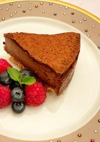 ビターチョコレートチーズケーキ