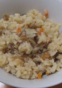 鶏肉と具材タップリの炊き込みご飯^^v