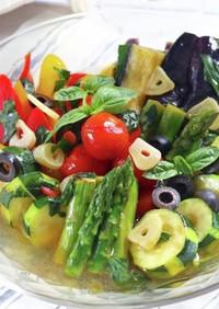 レストランの味!夏野菜の洋風揚げ浸し