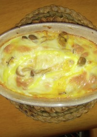 豆腐と溶き卵のグラタン、ドリア