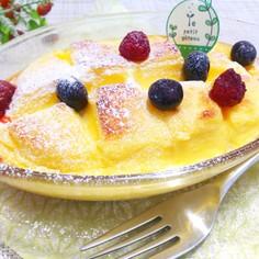 チーズ蒸しパン(ケーキ)のパンプディング