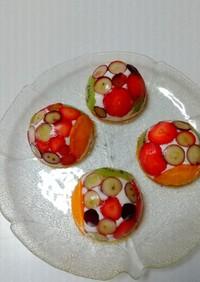 フルーツのヨーグルトムースケーキ