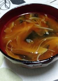 淡竹(タケノコ)の味噌汁