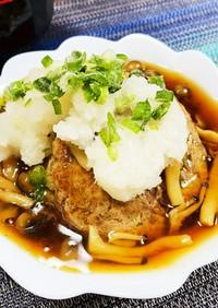 豆腐はんばーぐ×きのこあんかけ