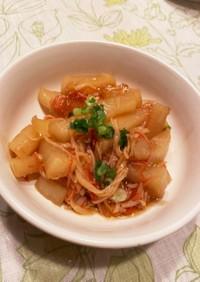 レンジで簡単 大根とカニカマの煮物