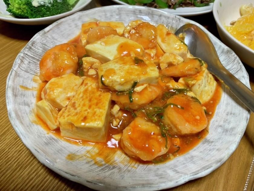 エビと豆腐のチリソース☆