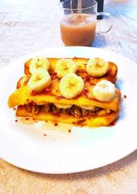 バナナクルミ蜂蜜たら〜りフレンチトースト