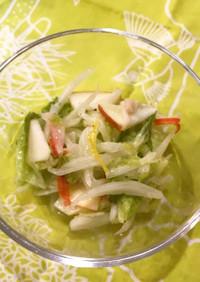 白菜とりんごのレモンサラダ