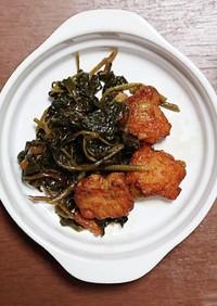 ウドの葉の煮物
