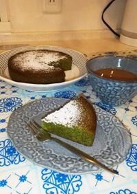 HMで簡単☆抹茶薫るガトーショコラ
