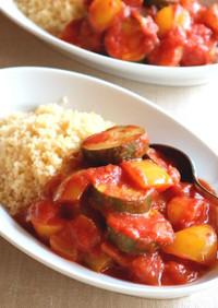 ハリッサで作る♬ピリ辛彩り野菜のトマト煮