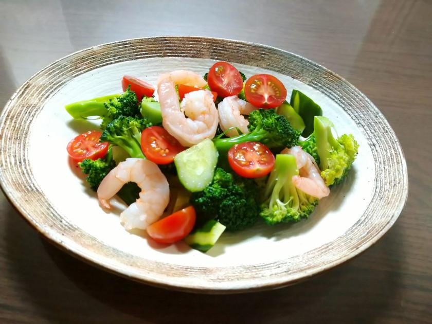 ブロッコリーと海老のイタリアン風サラダ
