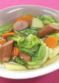 春野菜とウインナーのスープ煮