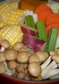 ひとつのお鍋で温野菜!と、スープ!