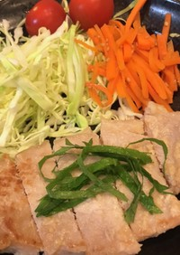 簡単 豚厚切り肉の味噌塩麹焼き