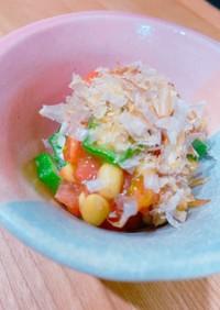 簡単!トマトオクラ納豆の和え物