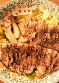 温野菜と蒸し豚肉のポン酢仕立て