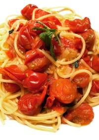 爽やかな酸味と甘み♪ミニトマトのパスタ