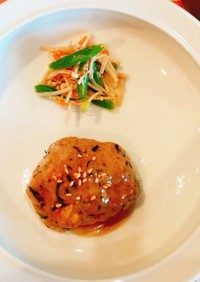 豆腐のひじきハンバーグ