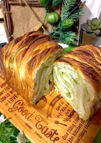 抹茶シート折り込みパン用