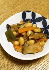 【腸活】きのこと白滝の煮豆【簡単】