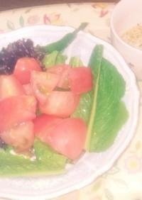 ザク切りトマトのフレンチサラダ