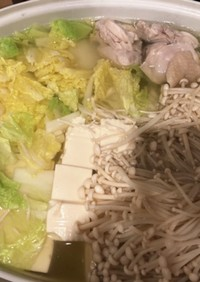 【ロカボ】豆腐と白菜の水炊き