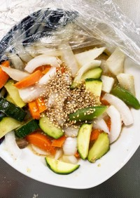 全てレンジ食べ切り洋風生姜温野菜サラダ