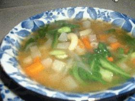 7種の野菜たっぷりスープ