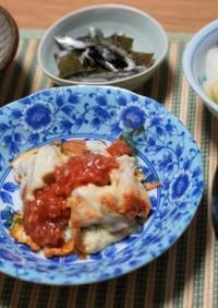 チキンピカタ(玉ねぎソース)