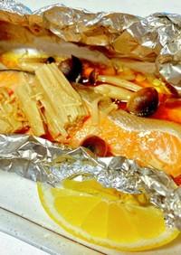 鮭のホイル焼き フライパン