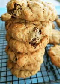 きな粉入り オーツ麦とレーズンのクッキー