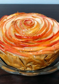 プロテインパンケーキミックスりんごケーキ