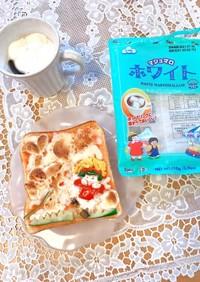 食パンでマシュマロアート♡モニター料理♡