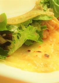鶏もも肉サラトリオレタスのわさマヨロール
