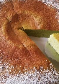 炊飯器で作る 抹茶スフレチーズケーキ♪