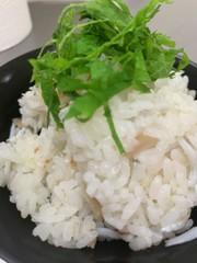 梅としらすの美味しいご飯の写真