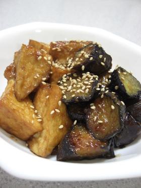 ご飯が進む☆厚揚げ&茄子の味噌炒め♪