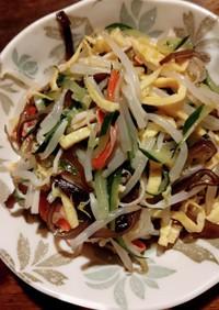 冷やし中華の具、多めに作って中華サラダへ