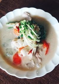 小松菜の味噌豆乳シチュー★グルテンフリー