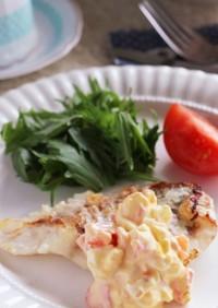 うんまい♡白身魚のトマトタルタルムニエル