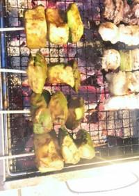 アボカドの味噌にんにく焼き