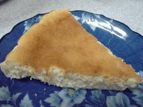 ホワイトチョコを使ったチーズケーキ