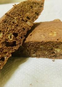 混ぜてチン✨おからココアバナナ蒸しパン