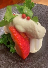 イチゴの白和え